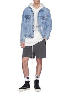 Daniel Patrick Logo print outseam sweat shorts