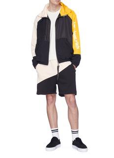 Daniel Patrick Logo print colourblock windbreaker jacket