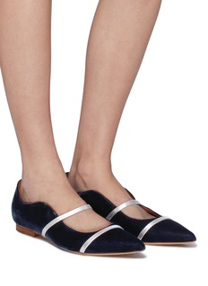 Malone Souliers 'Maureen' strappy velvet flats