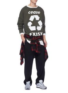 Faith Connexion 'Cease Exist' recycle print sweatshirt