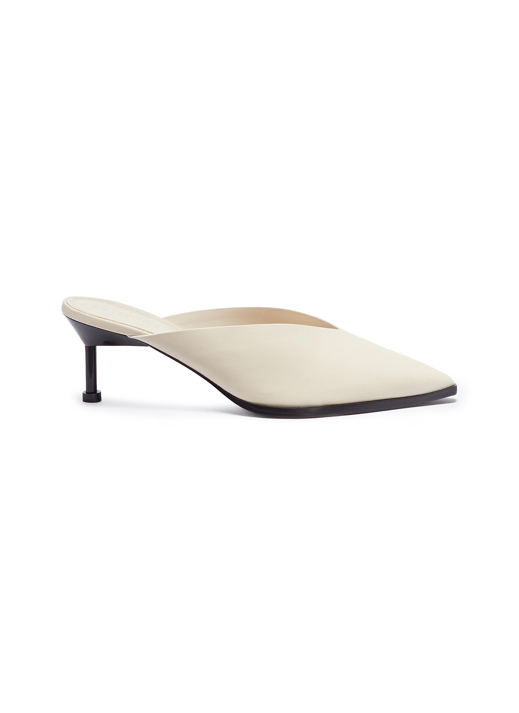 Noriko leather mules by Mercedes Castillo