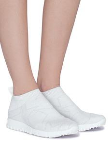 Jimmy Choo 'Norway' Lurex sock knit sneakers