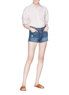 Frame Denim 'Le Cut Off' raw edge cuff denim shorts