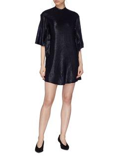 Elissa McGowan Metallic T-shirt dress