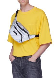 Balenciaga 'Explorer The Power of Dreams' slogan print reflective bum bag
