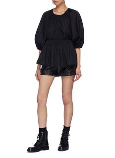 Cecilie Bahnsen 'Signe' tie open back puff sleeve peplum blouse