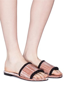 Avec Modération 'Kitzbuhel' braided edge velvet slide sandals