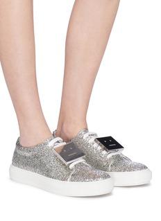 Acne Studios 'Adriana Spark' emoticon plate glitter sneakers
