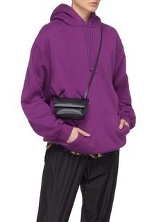 Acne Studios Foldover flap mini leather crossbody bag