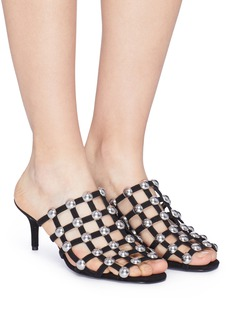 Alexander Wang  'Sofia' dome stud caged suede sandals