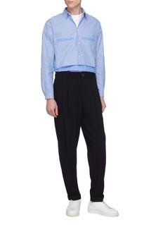 GOETZE 'George' layered hem stripe shirt