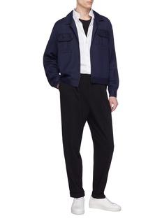 PAM 'Dieter' side split cropped shirt