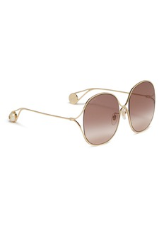 Gucci Cutout metal oversized round sunglasses
