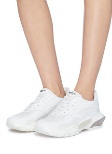 Valentino 'Bounce' chunky outsole mesh panel leather sneakers