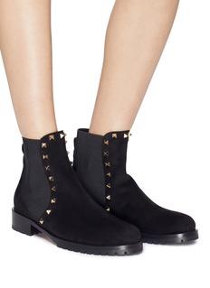 Valentino 'Beatle' Rockstud suede Chelsea boots