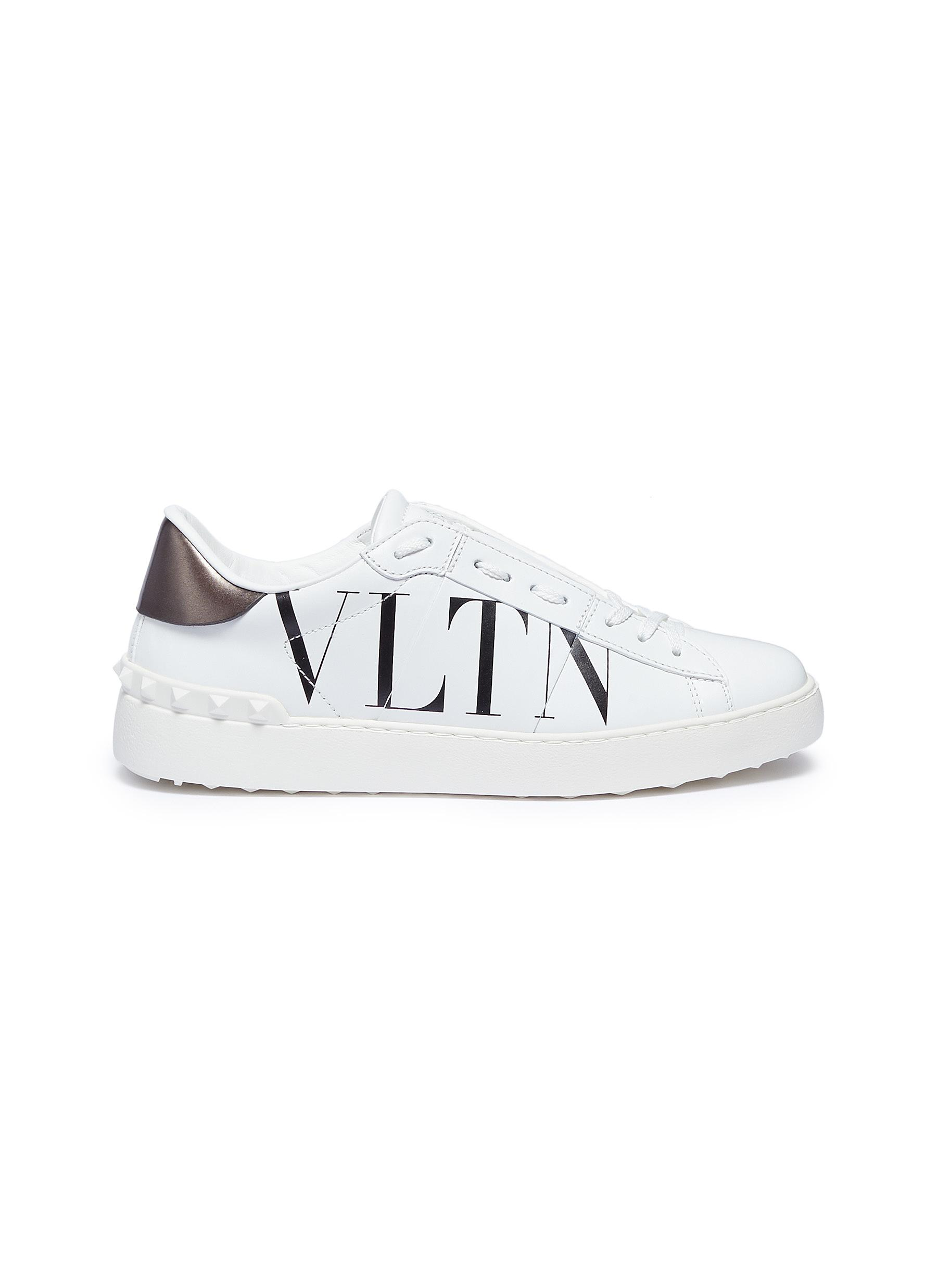 42721f053e9 Main View - Click To Enlarge - Valentino -  Open  logo print leather  sneakers