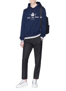 Dolce & Gabbana Logo crown print hoodie
