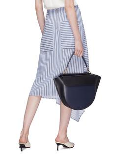 Wandler 'Hortensia' colourblock big leather shoulder bag