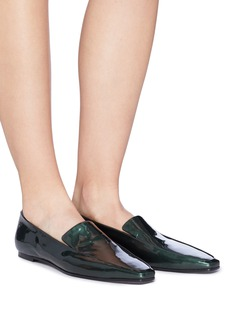 The Row Patent leather moccasins