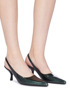 The Row 'Bourgeoise' patent leather slingback pumps