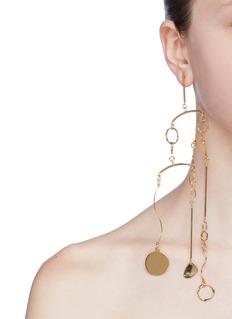 MOUNSER 'Deluge' detachable geometric link drop single earring