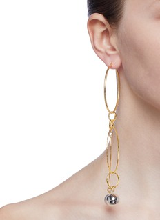 MOUNSER 'Ebb and Flow' mismatched glass pearl sphere drop earrings
