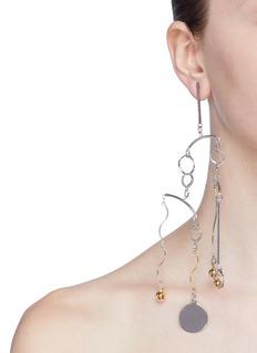 MOUNSER 'Flurry' detachable geometric link drop single earring