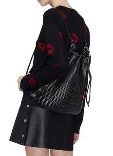 Sonia Rykiel 'Le Baltard' leather net drawstring backpack