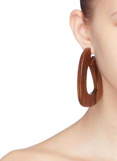 Sophie Monet 'The Large Pine' hoop earrings