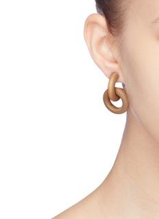 Sophie Monet 'The Configuration' interlocking hoop earrings