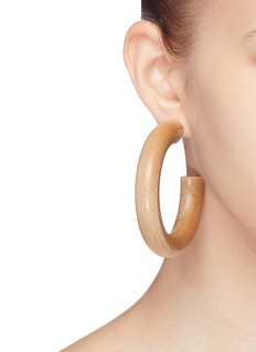 Sophie Monet 'The Bell' geometric hoop earrings
