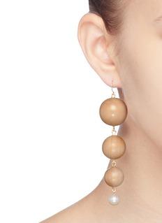 Sophie Monet 'The Trevi' freshwater pearl sphere drop earrings