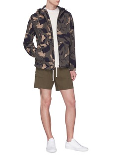 Theory 'Wright' camouflage print hooded jacket