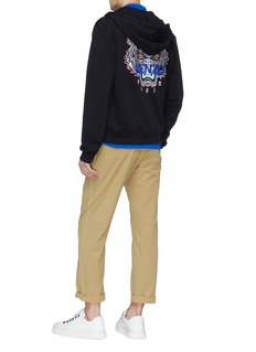 KENZO Tiger embroidered zip hoodie