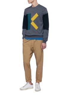 KENZO 'K' intarsia colourblock sweater