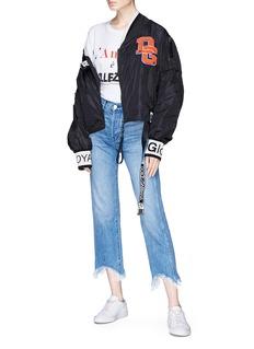 Dolce & Gabbana Logo patch sash drape bomber jacket