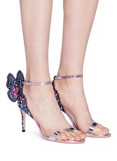 Sophia Webster 'Chiara' butterfly appliqué mirror leather sandals