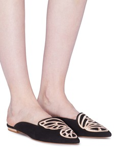 Sophia Webster 'Bibi Butterfly' wing embroidered suede slides