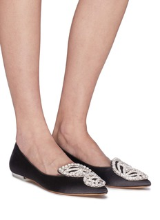 Sophia Webster 'Bibi Butterfly' wing embellished satin flats