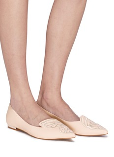 Sophia Webster 'Bibi Butterfly' wing embroidered leather flats