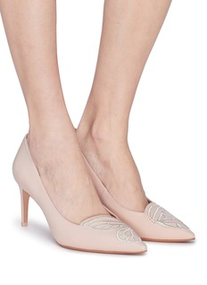 Sophia Webster 'Bibi Butterfly' wing embroidered leather pumps