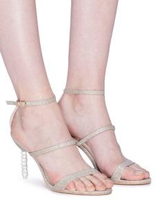 Sophia Webster 'Rosalind' crystal pavé bead heel glitter sandals