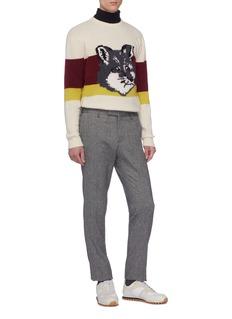 Maison Kitsuné Fox head jacquard colourblock sweater