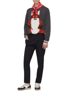 Maison Kitsuné Pixel fox jacquard wool sweater