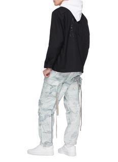 MAGIC STICK 'Fat Bontage BDU' drawstring camouflage print cargo pants