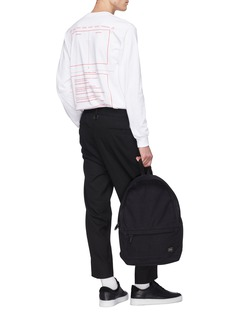 MAGIC STICK 'LUX' pleated drop crotch suiting pants