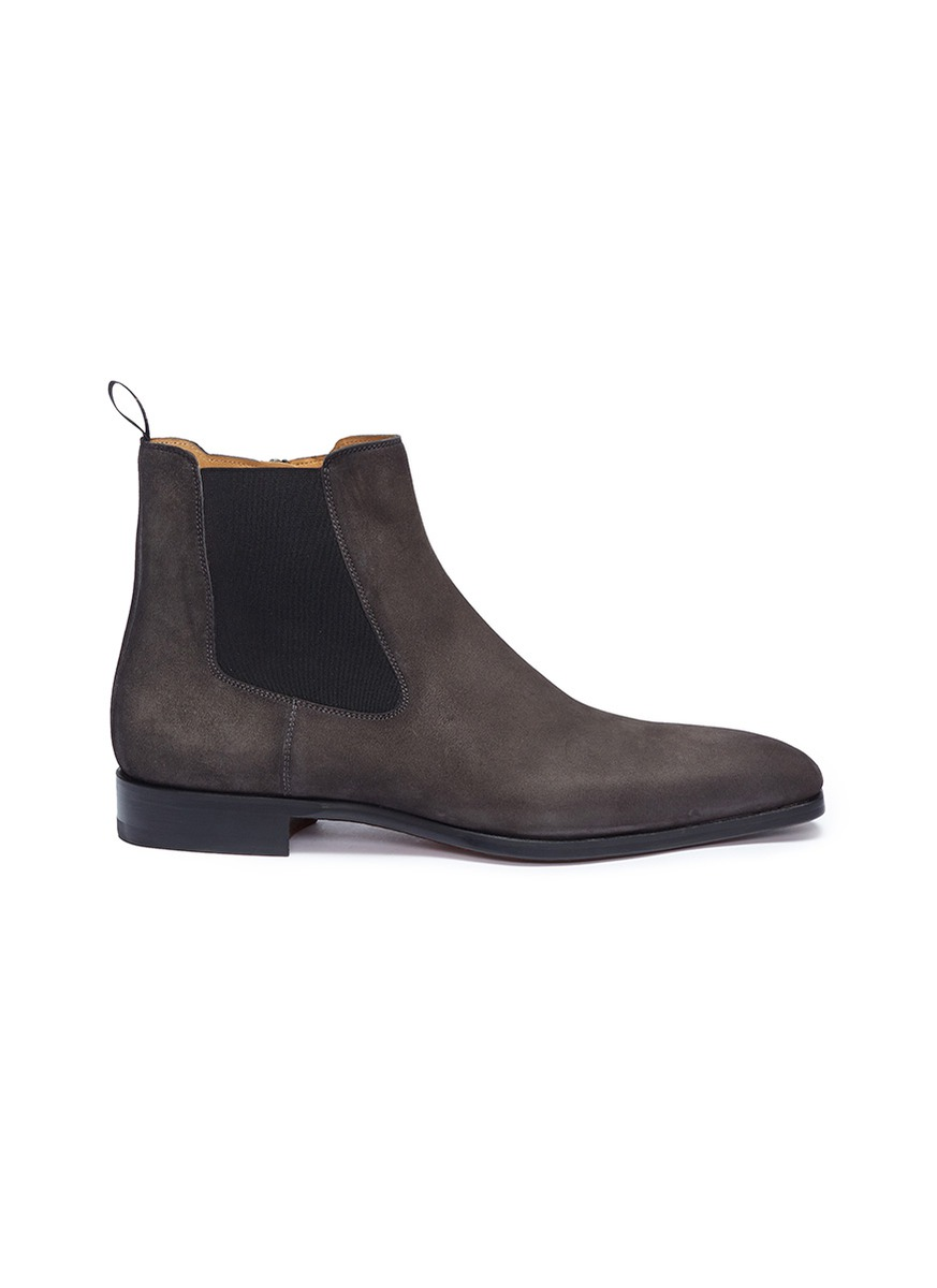 Zip suede Chelsea boots by Magnanni