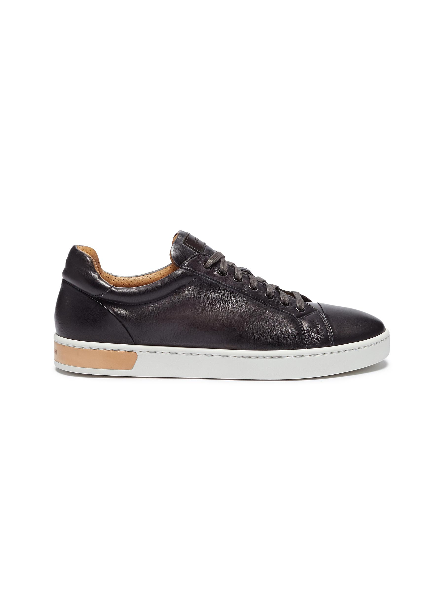 Leather sneakers by Magnanni