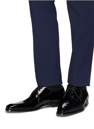 Figure View - Click To Enlarge - MAGNANNI - Patent leather Derbies
