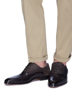 Magnanni Suede panel leather Oxfords